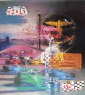 "INDY 500 1988 original race Poster 27 x 20"" (690 x 500mm)"